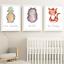 Safari-Jungle-Animals-Nursery-Prints-Set-Baby-Kids-Room-Pictures-Wall-Art-Decor miniatuur 11