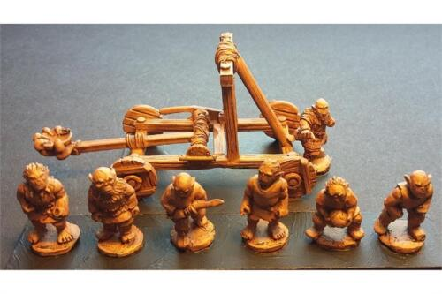 1 Stone Thrower /& 7 Crew 15mm Fantasy Orcian Stone Thrower
