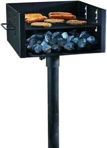 Guide Gear Heavy-Duty Park Style Grill Large Charcoal Bbq Outdoor Cooking