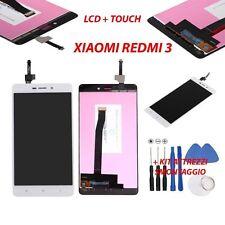 display originale Xiaomi RedMi 3s 3 BIANCO vetrino schermo LCD vetro touchscreen