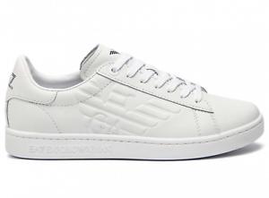 EA7-Emporio-Armani-7-Scarpe-Unisex-Sneakers-Bianco-Pelle