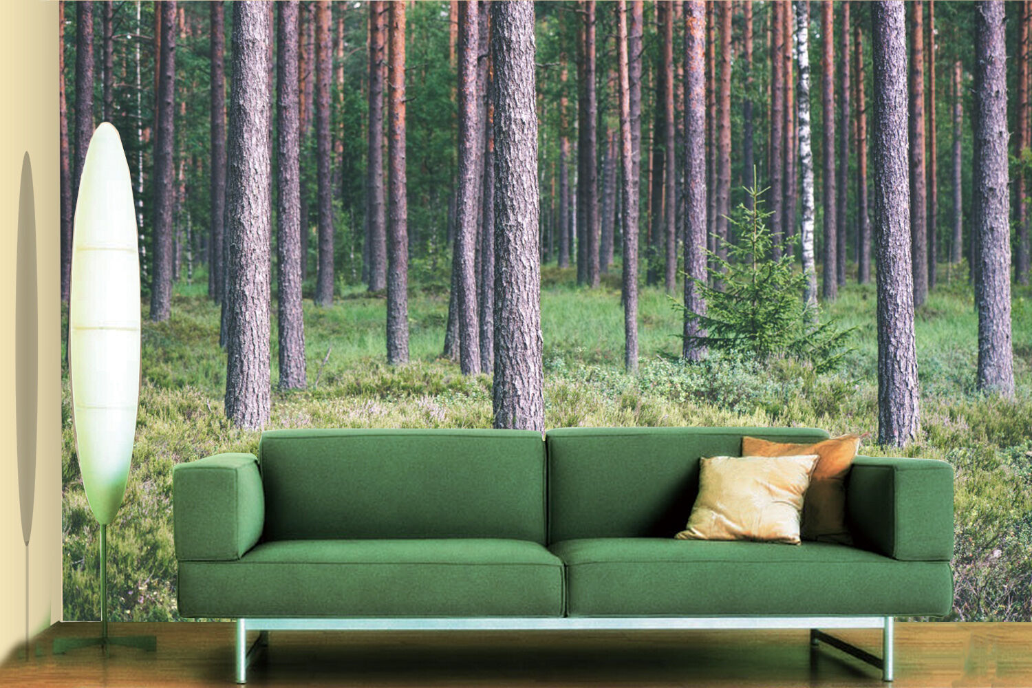 3D tree forest lawn Wall Paper wall Print Decal Wall Deco Indoor wall Mural