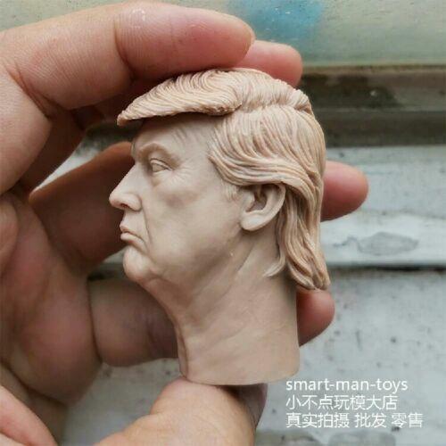 "American President Trump 1//6 Head Carving Sculpt Model for 12/"" Figure Body Doll"