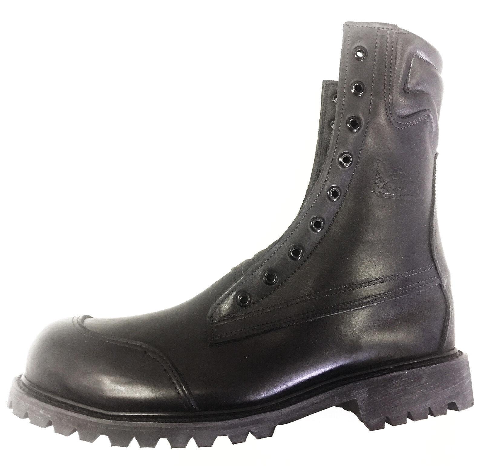 All American 100LA Men's Round Toe Boots, Black