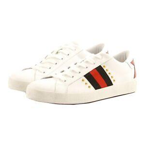 Scarpe sneakers casual Debbie Doos donna pelle bianca logo PmmfO