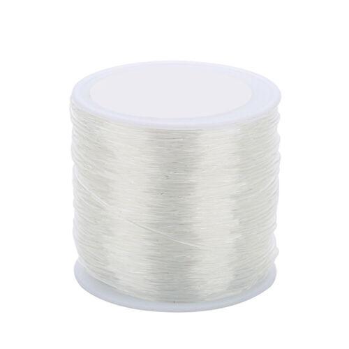 100m Transparente elastische Faser Schmuckfaden Für Perlenschmuck Basteln 0.8mm