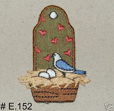 1PC~BIRD HATCHING EGGS~EMBROIDERED IRON ON APPLIQUE