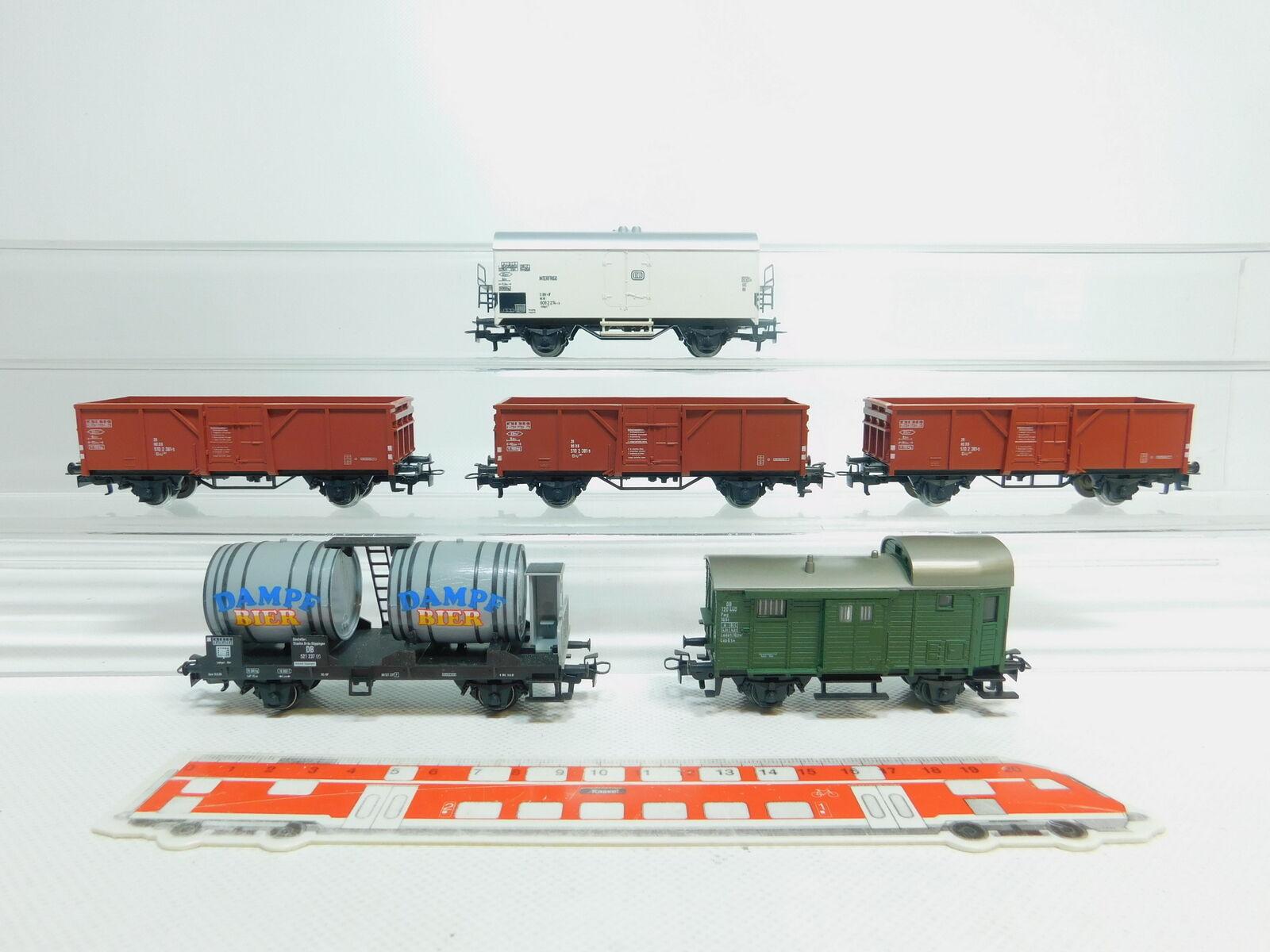 Bm60-1  6x MÄRKLIN H0 AC Vagón de mercancía etc. DB   Vapor CERVEZA +