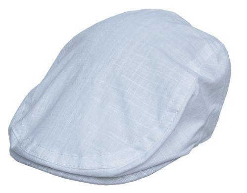 Cool4 Leinen Flatcap Weiß Schiebermütze Vintage Gatsby Cap SFC17