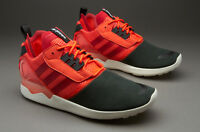 Mens Adidas ZX 8000 Boost Classic Sneakers New, Black / Solar Red B26368
