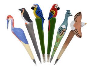 Ball-Point-Pens-Kids-039-Children-Awards-Wood-Carving-3D-Bird-Shape-Writing-Pen-1pc