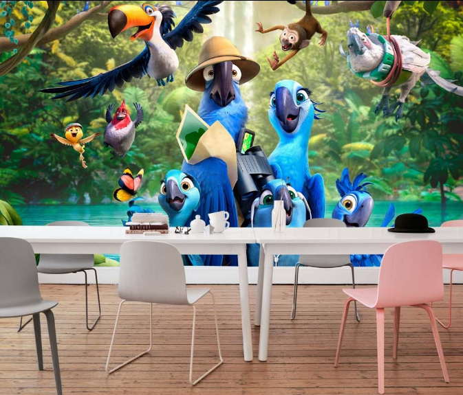 3D Blau Parrot Anime 71 Paper Wall Print Wall Decal Wall Deco Indoor Murals