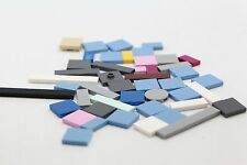 An Assortment of Lego Flat-topped plates, Round, Straight, Square, Etc. LFP