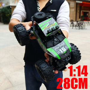 Green-1-14-4WD-2-4-Ghz-Remote-Controlled-Car-Monster-Truck-Off-road-Toy-Kids-US