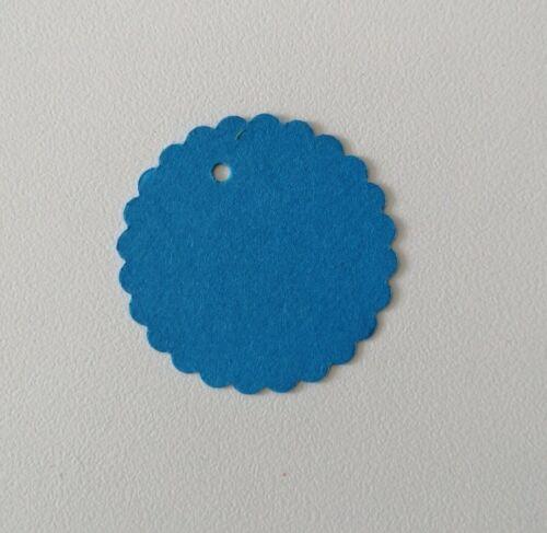 Geschenketiketten DIY ø3,8cm,blau 50  Etiketten Tags Geschenkanhänger