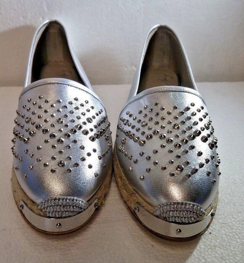 Giuseppe Zanotti, Espadrilles, Metal Silver, E66068, US 9, EUR 40