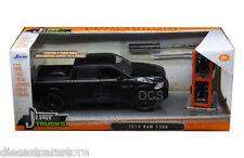 JADA 2014 DODGE RAM 1500 PICKUP TRUCK W/ XTRA WHEELS MATT BLACK 1/24 CAR 97228