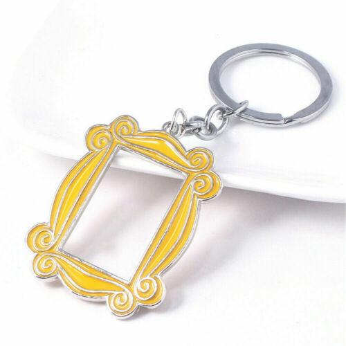 TV Show Friends Keychain Monica/'s Door Peephole Frame Pendant Key Ring Holder