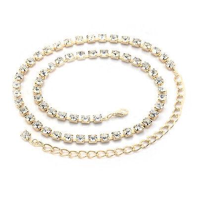 1 Filo Diamante Donna Vita Oro Catena Ciondolo Cintura Per Casual Festa Dolorante