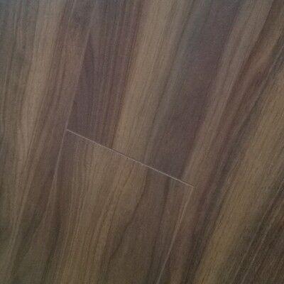 CHENE 8mm Dark American Walnut Laminate Flooring FREE UNDERLAY Wood Drop Lock