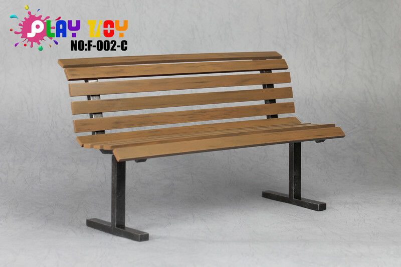 1 6 Play Toy F002-C Park Bench Chair in Brown for 1 6 Scale Figure Accessories
