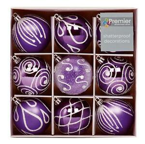 Christmas-Tree-Decoration-9-Pack-60mm-Shatterproof-Baubles-Purple