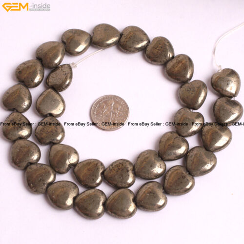 Natural Genuine Silver Pyrite Gemstone Spacer Beads For Jewelry Making 15/'/'