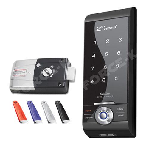 EVERNET CHOICE-T Smart Digital Door Lock Keyless Security Entry Passcode+IC Keys