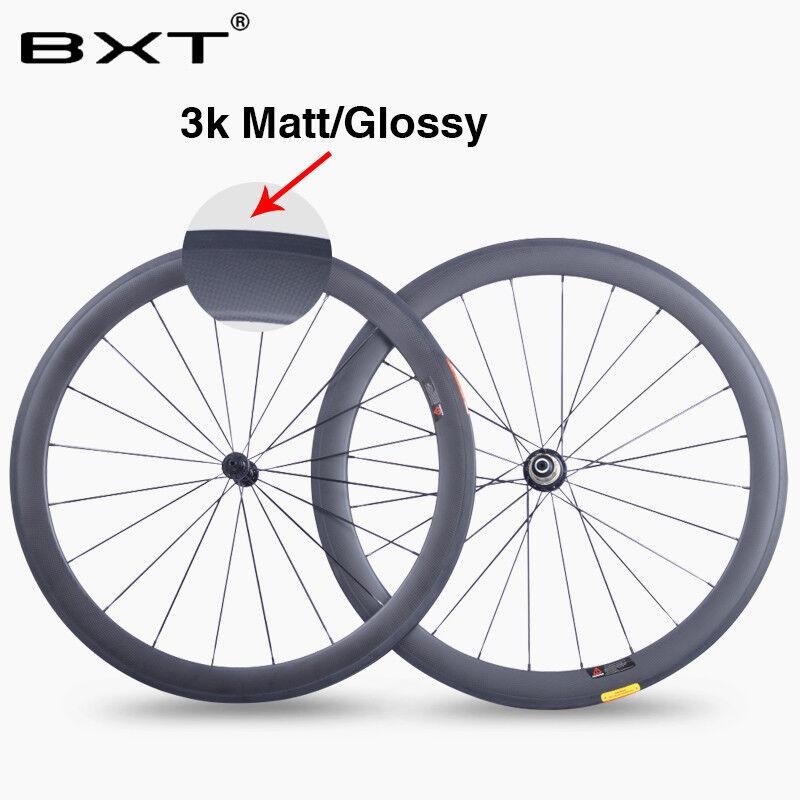 Ultralight 700C Full Carbon Fiber Road Wheels 23mm Carbon Bicycle Wheelset 3K