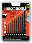 Black & Decker 10-Piece Drill Bit Set  #15557