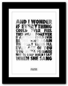 FOO-FIGHTERS-Everlong-lyric-typography-poster-art-print-A1-A2-A3-or-A4-2