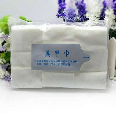 900 x Lint Free Nail Wipes Pad Gel Acrylic Tips Remover