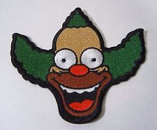 """KRUSTY THE CLOWN - The Simpsons - Embroidered Iron-On Patch 3.50"""" NEW"""