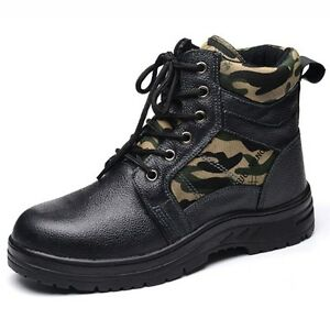 0f70984605 New Winter Mens Thicken Safety Shoes Steel Toe Prevent Puncture Work ...