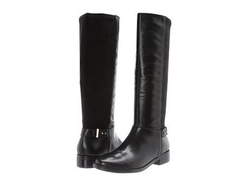 New Cole Haan Adler Tall women's Black Leather Boot Sz 7 B