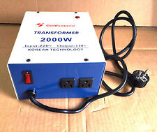 NEU SPANNUNGSWANDLER 2000 Watt USA Transformator 230V-110V EUROP Converter 2000W