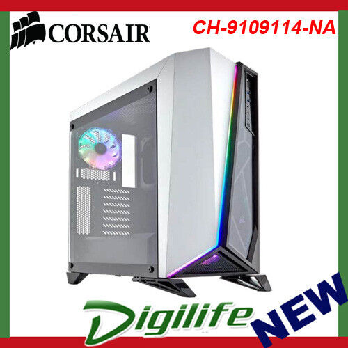 Corsair Carbide SPEC-OMEGA RGB Tempered Glass Mid-Tower ATX Case - White/Black