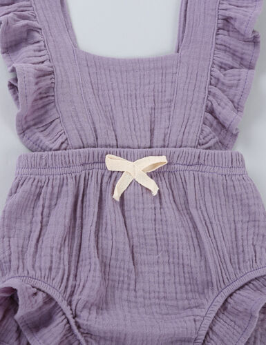 Infant Baby Girl Cotton Ruffle Flutter Sleeves Romper Jumpsuit Outfit Tutu Dress