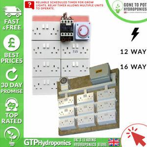 Dynamique Contacteur Board-hydroponics Grow Light Socket Régulier Timer - 12/16 Way-afficher Le Titre D'origine Couleurs Harmonieuses