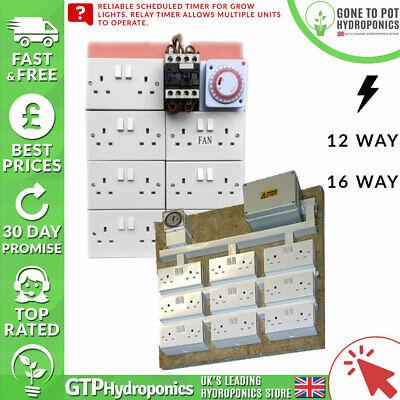 Contattore Board-idroponica Grow Light Presa Timer Programmata - 12/16 Vie-