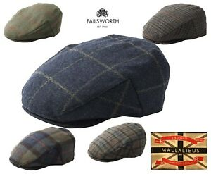 20b69d3ae2e Image is loading English-Tweed-Cap-Failsworth-Hats-Mallalieus-British-Tweed-