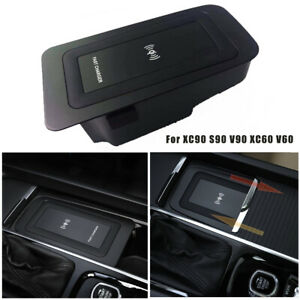 12V-Car-Wireless-Fast-Charger-Phone-Charging-Plate-for-Volvo-XC90-XC60-S90-V90