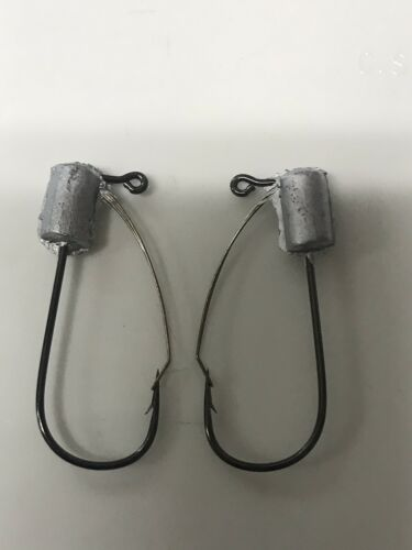 25 pack combo weedless tube hooks 1//8 /& 1//4 ounce built with mustad 32746 bln