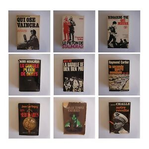 9 livres guerre histoire LARTEGUY REMY CHALLE HOUGRON ROY CARTIER FRIANG N3630