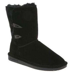 Bearpaw-Women-039-s-Abigail-Genuine-Sheepskin-Lined-Suede-Pull-On-Winter-Boots-682W
