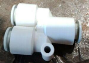 Air push Y piece fitting 10mm KQ2U10 SMC Pneumatic - PACK OF 5