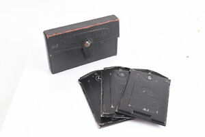 Ukraine-Film-Co-Soviet-Prewar-Glass-Plate-Film-Holders-With-Case-3-Total-V59