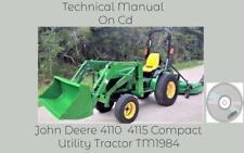 John Deere 4110 4115 Compact Utility Tractor Service Technical Manual Tm1984 Cd
