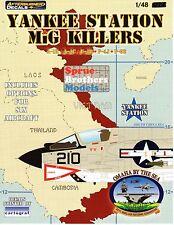 1/48 IPMS Afterburner Decal: SIX Yankee Station MiG Killers SUPER!