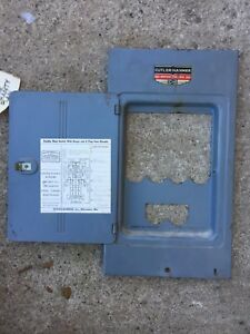 cutler hammer cat no 4335h206 fuse panel cover door ebay rh ebay com cutler hammer 60 amp fuse box